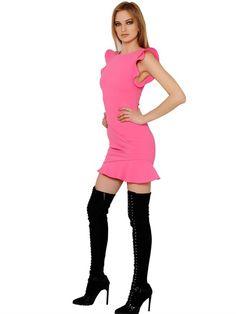 STRETCH DOUBLE WOOL DRESS
