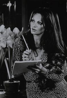 Diane von Furstenberg in her signature wrap dress, 1970s