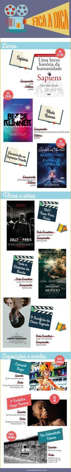 Fica a Dica: lançamentos de livros, filmes e exposições - Blog da Mimis #blogdamimis #ficaadica #livros #cinema #filme #exposição #eventos #carnaval