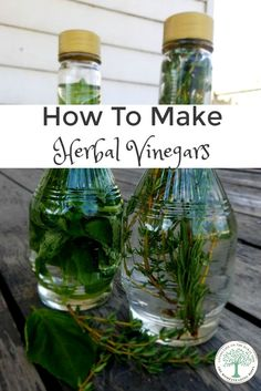 I love making herbal vinegars for that reason. They are so easy to make, and add an extra boost of flavor. Are you ready to make your own herbal vinegar? The Homesteading Hippy via /homesteadhippy/ Flavored Oils, Infused Oils, Herbal Remedies, Home Remedies, Health Remedies, Autogenic Training, Healing Herbs, Preserving Food, Canning Recipes