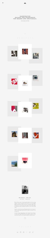 Miguel Trias - Minimal Design Website