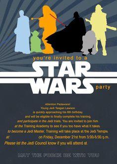 free printable star wars party invitations Recherche Google