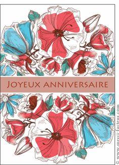 Carte gravure joyeux anniversaire pour envoyer par la for Envoyer fleurs par internet