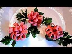 7 LIFE HACKS HOW  TO CUT THE SAUSAGE  - ART IN VEGETABLES & GARNISH CUCUMBER TOMATO CARVING - YouTube