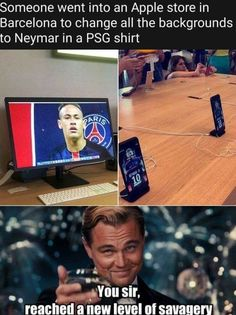 That's my hero Funny Football Memes, Soccer Jokes, Funny Sports Memes, Very Funny Memes, Sports Humor, Football Humor, Stupid Funny Memes, Funny Stuff, That's Hilarious