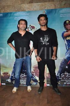 Sushant dons an all black attire to promote M.S. Dhoni: The Untold Story with Neeraj Pandey!