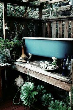 great way to water the garden below