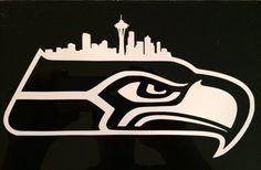 Seattle Seahawks Vinyl Decal 7x4 by OlySticks on Etsy, $5.00