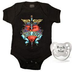 Kiditude - Bon Jovi Baby Gift Set $30.90