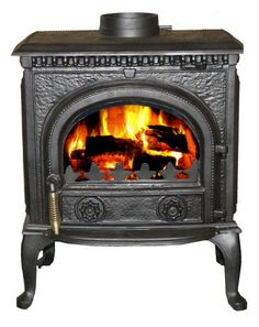 """Buy 10kW """"ASCOT"""" CAST IRON WOODBURNING MULTIFUEL STOVE - genuine CE certificate issued in the UK. at http://salemall.co.uk/index.php?product_id=B0050JEUXE"""