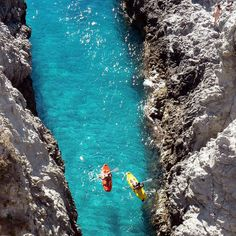 How about we go kayaking at Capo Vaticano in Calabria, Italy