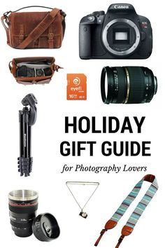 Trying to find the right gift for everyone is not always easy, frankly it can even be quite stressful. Let this holiday gift guide inspire you with thoughtful ideas to give to all your friends and family member who are photography lovers.