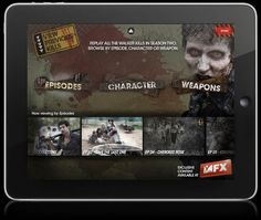 The Walking Dead 'Kill Counter' iPad and iPhone App by Yong Ping Loo, via Behance