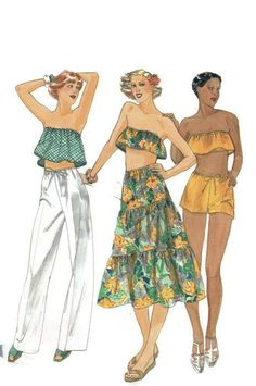 Butterick 5488 Sewing Pattern Retro 70s Boho Hippie Style