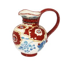 Blue Sky Ceramic Cambria Pitcher, 9.5 x 7 x 9', Red ** For more information, visit image link.