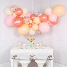 Rose Gold Balloon Garland - Baby Shower - Wedding - DIY Balloon Garlands