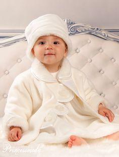 Nele - Champagnerfarbene Taufkombination! - Princessmoda - Alles für Taufe Kommunion und festliche Anlässe