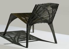 Marleen Kaptein uses robots to weave carbon fibre chair