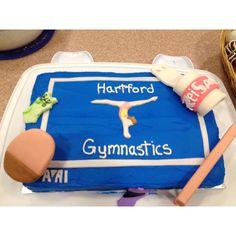 Cake I made for my gymnastics team!