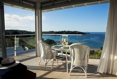 Nautical décor and a laid-back approach to luxury come together seamlessly at The Boatshed hotel on New Zealand's Waiheke Island, reachable only by ferry from Auckland. The Places Youll Go, Places To See, Waiheke Island, New Zealand Travel, Travel News, Auckland, Bed And Breakfast, Beautiful Places, Patio