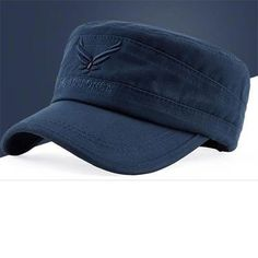 Genuine US AIR FORCE Breathable Cotton Army Captain Tactical hats for men  Vintage Flat Roof Baseball 6e3f9db60683