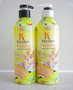 New! KERASYS Perfume Shampoo & Conditioner(Glam & Styilsh) 600ml+600ml 2pcs set #KERASYS