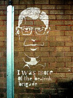 Old Beatnik - Stencil in the Northern Quarter of Manchester, England.