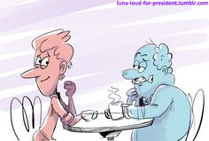 The Loud House: Harold McBride with Howard at a coffee shop.  #theloudhouse #howardmcbride #haroldmcbride