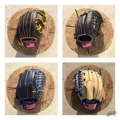 """Star-spangled happiness and banner waves of pride - Cherishe Archer""  Four gloves ready to fly to #USA  #gloveworks #glovefactory #baseball #baseballglove #baseballislife #customglove #customization #flag #usa #starsandstripes #hawaii #pride"
