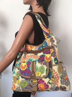 Fossil Bag Floral Deeigner Fashion Multipocket Hip Young Canvas Female Trendy    | eBay
