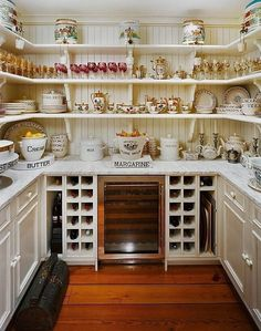Pantry for dishes. Would be great for dishes/china you only use for holidays.