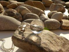Pendentif en cristal de roche, bijou féerique, pendentif en pierre de cristal de roche, bijou cristal de roche : Pendentif par lapassiondisabelle