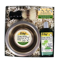 O My! Island Rum Goat Milk Starter Shaving Kit