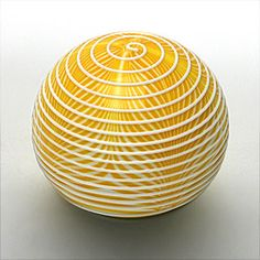 Yellow pulled and trailed with ridges