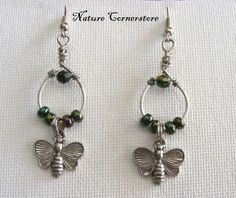 Busy Bee Earrings one pair | NatureCornerstore - Jewelry on ArtFire