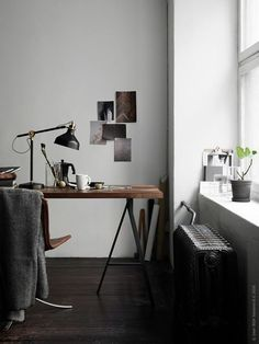 See more ideas about Desk ideas, Office ideas and Home office decor. Convert a small space to a polished eye-catching and functional home office. Home Office Space, Home Office Design, Home Office Decor, Office Ideas, Office Spaces, Decorating Office, Desk Space, Office Designs, Industrial Interiors