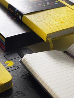 Moleskine comemora os trinta anos do Pacman com edição limitada. #moleskine #exclusivo #pacman