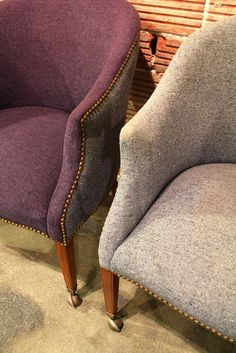 Paint old upholstered furniture w/ Rit dye for an inexpensive fake re-upholster job!