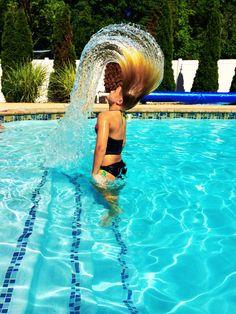 My beautiful niece allowed me to take some fun pool photos 6/15/2014 #beauty #roxygirl #anna ©lolahphotos