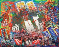 Title: In memory of WTC Date: 2007 Technique: Acrylic, paper, canvas Size of work: 180 x 140 cm  Price: 4.650 USD