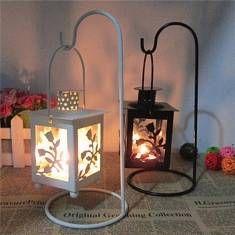 Antiguos de metal se levantó candelabro arte del hierro del té pilar vela ligera regalo decoración del hogar titular de candelabro