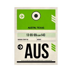 AUS Austin Luggage Tag