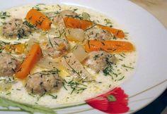 Kapros karalábéleves húsgombóccal Okra, Healthy Recipes, Drink Recipes, Yummy Recipes, Healthy Food, Paleo, Yummy Food, Chicken, Meat