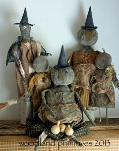 Primitive Scarecrows, Primitive Pumpkin, Primitive Folk Art, Primitive Crafts, Primitive Autumn, Americana Crafts, Primitive Patterns, Primitive Christmas, Halloween Doll