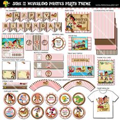 Listing is for an entire Jake and the Neverland Pirates Printable Party Package. Perfect for your little girls Jake and the Neverland Pirates