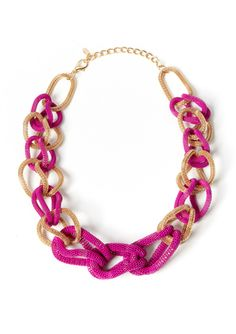 CARA COUTURE Mesh Link Colorblock Necklace