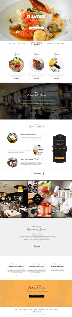 The Flavour Bar, Bistro and Restaurant Web Design
