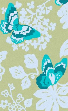 @rosenberryrooms is offering $20 OFF your purchase! Share the news and save! (*Minimum purchase required.) Abigail Butterfly Rug in Aloe #rosenberryrooms