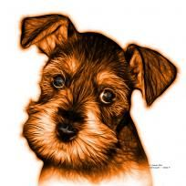 Orange Salt and Pepper Schnauzer Puppy pop art by artist James Ahn. Schnauzers are a loyal breed. BOrange as a rat catcher, yard dog, and guard dog. They have high energy and are intelligent... They make great companions... Schnauzer 7206   © Rateitart.com // All Rights Reserved.   #Orange #ColorOrange #OrangeArt #OrangePopArt #Schnauzer # SchnauzerArt # MinatureSchnauzer #DogArt #PopArt #DogArtPrints #ILoveSchnauzer #SchnauzerArtPrint