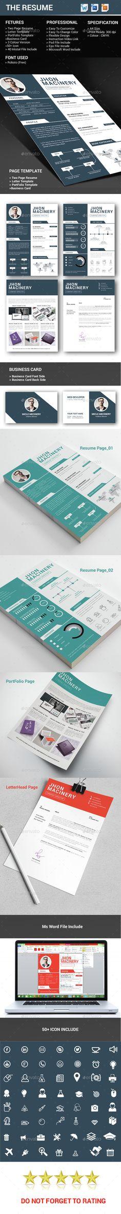 Resume CV and Portfolio Template Free Special
